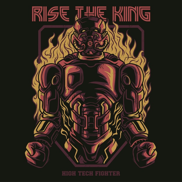 Rise the king-illustratie Premium Vector