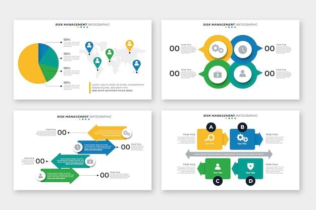 Risicobeheer infographic ontwerp Gratis Vector