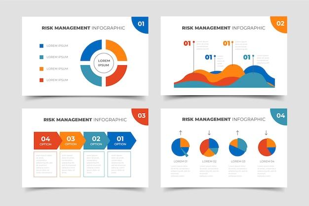 Risicobeheer infographic Gratis Vector