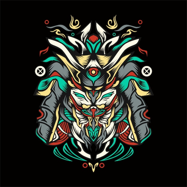 Riwaki illustratie Premium Vector