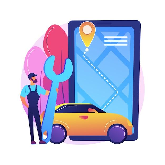 Roadside service illustratie Gratis Vector