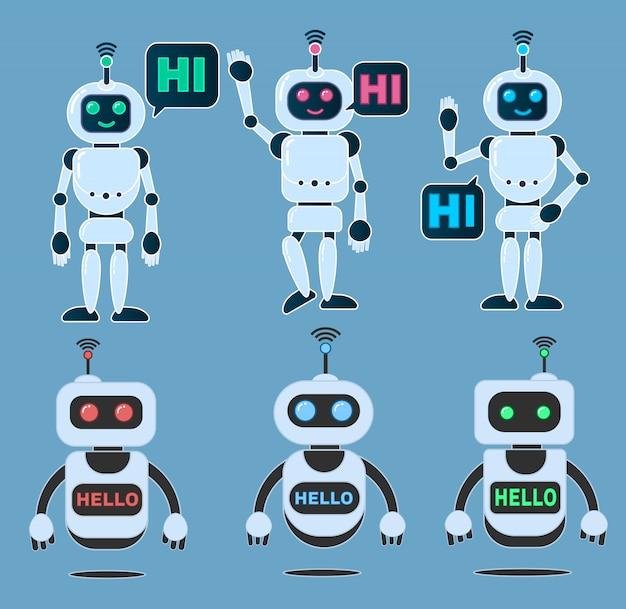 Robot innovatie technologie science science fiction ontwerp 3d vector illustratie. Premium Vector