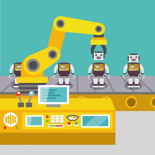 Robotarmconcept Gratis Vector