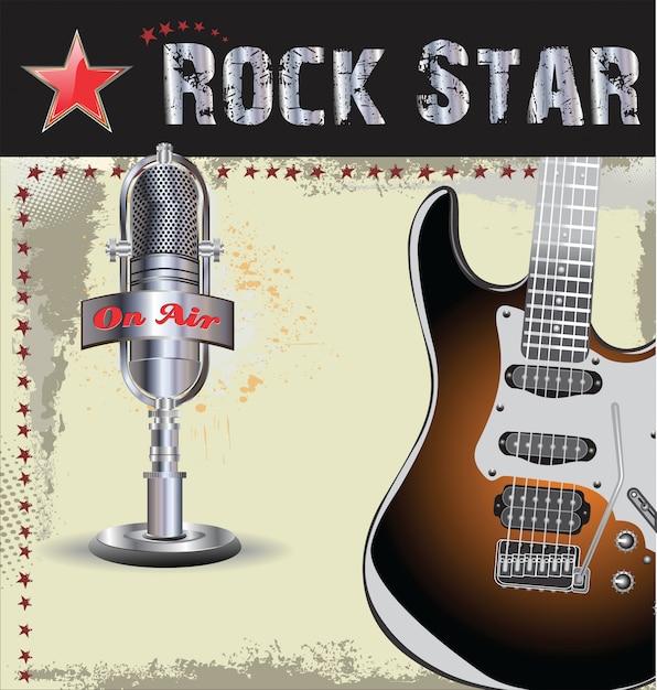 Rock concert achtergrond Premium Vector