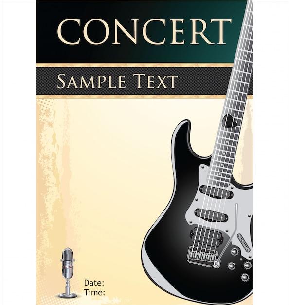 Rock concert poster Premium Vector
