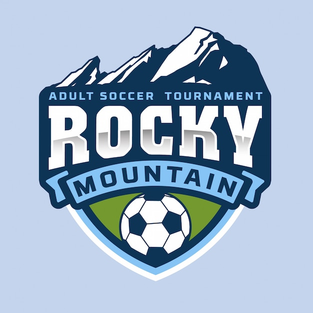 Rocky mountain-logo Premium Vector