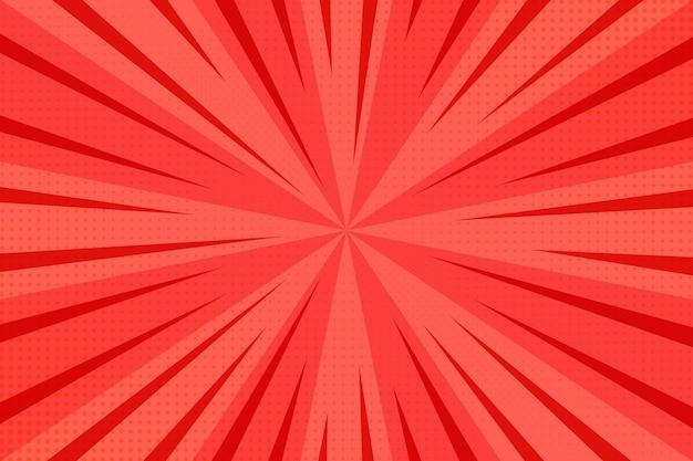 Rode abstracte halftone achtergrond Gratis Vector
