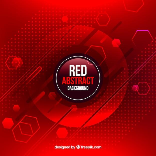 Rode achtergrond in abstracte stijl Gratis Vector
