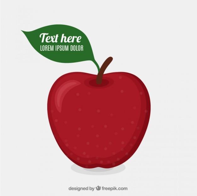 Rode appel template Gratis Vector