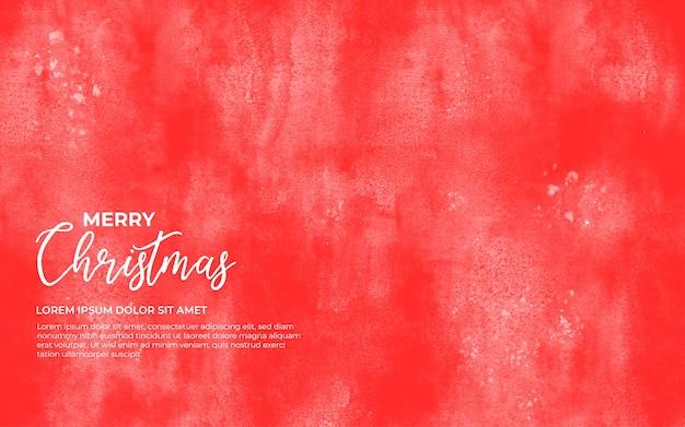 Rode aquarel achtergrond voor kerstmis Gratis Vector