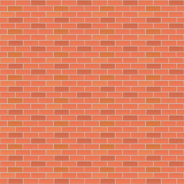 Rode bakstenen muur vector achtergrond Premium Vector
