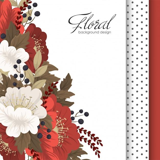 Rode bloem rode en witte bloemen Gratis Vector
