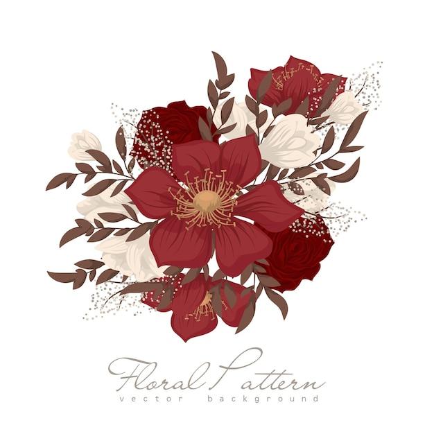 Rode bloemen Gratis Vector
