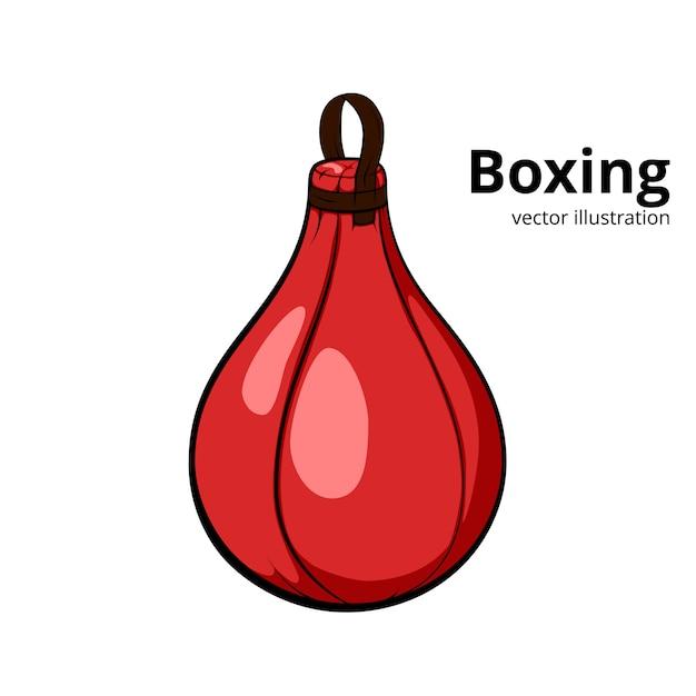 Rode boksbal. Premium Vector