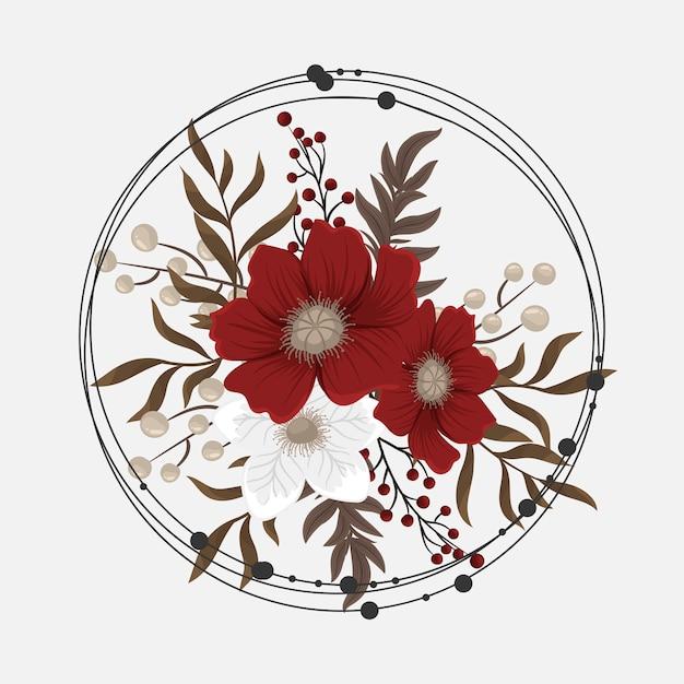 Rode clipart bloem Gratis Vector
