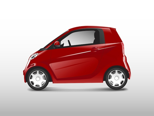 Rode compacte hybride auto vector Gratis Vector