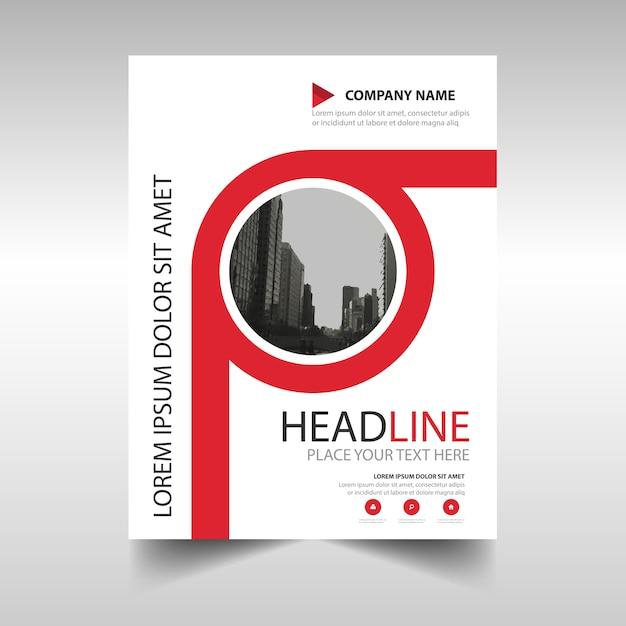 Rode creatieve jaarverslag cover van het boek template Gratis Vector