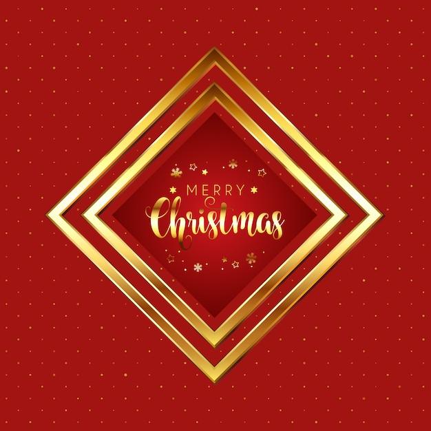 Rode en gouden kerst Gratis Vector