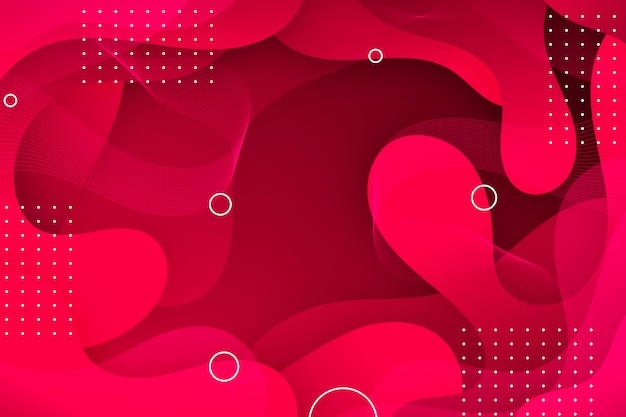Rode golvende abstracte achtergrond Gratis Vector