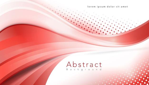 Rode golvende halftone moderne achtergrond Gratis Vector