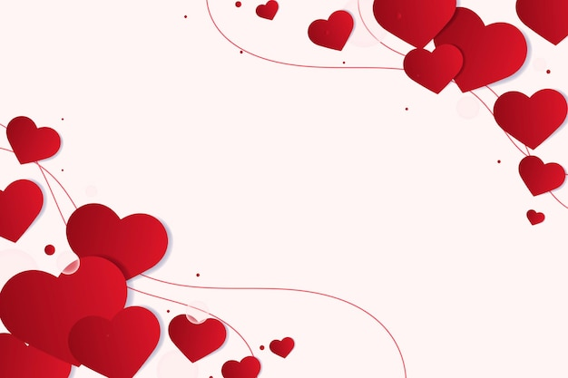 Rode hartgrenzen Gratis Vector