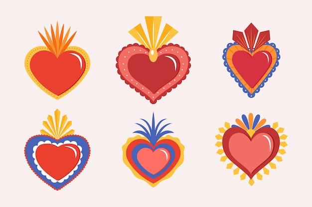 Rode heilig hart concept Gratis Vector