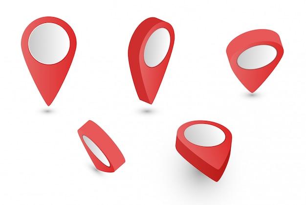 Rode kaart pointer collectie Premium Vector