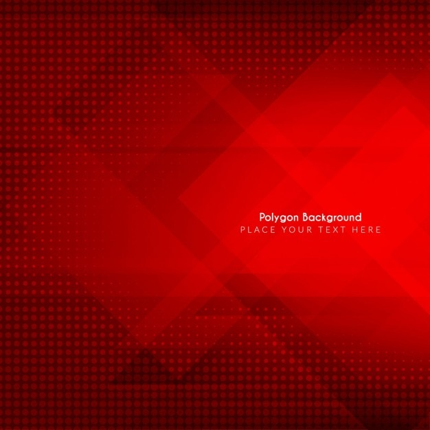 Rode kleur abstracte veelhoekige achtergrond ontwerp Gratis Vector