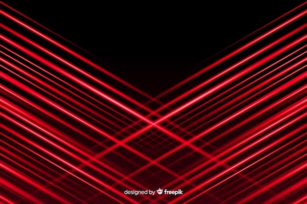Rode lichten die met zwarte achtergrond doorkruisen Gratis Vector