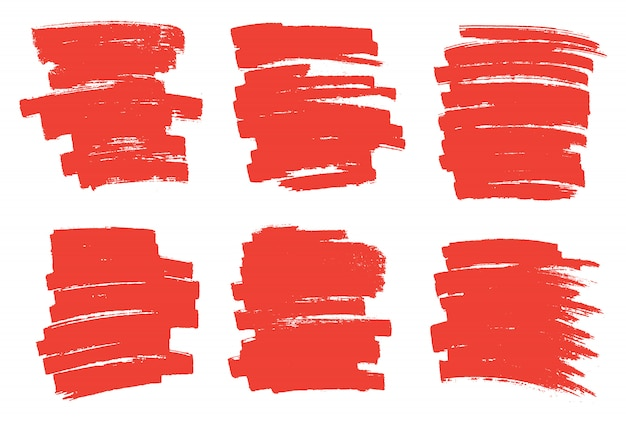 Rode marker vlekken Premium Vector