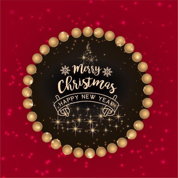 Rode merry christmas-achtergrond Premium Vector