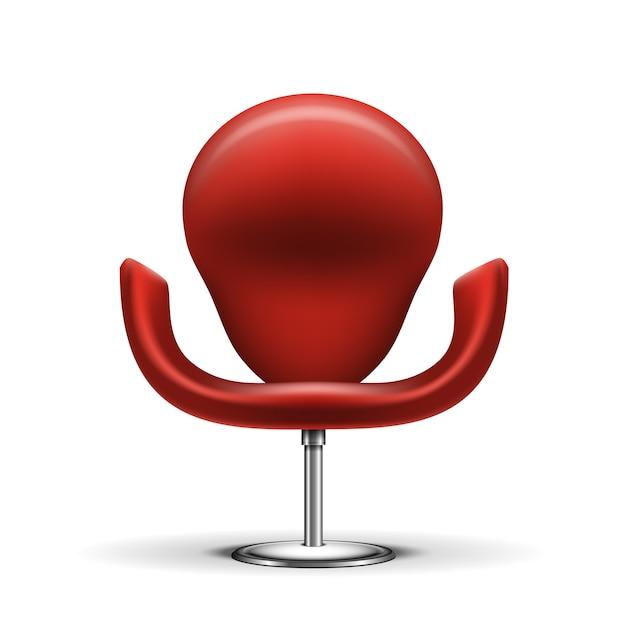 Rode moderne geïsoleerde stoel Gratis Vector