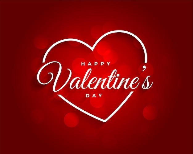 Rode mooie valentijnsdag achtergrond Gratis Vector