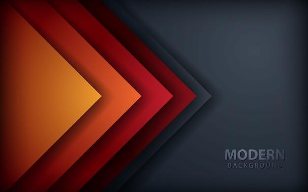 Rode overlapping lagen achtergrond op donker grijs Premium Vector