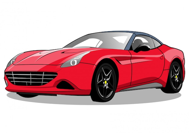 Rode raceauto californië illustratie Premium Vector