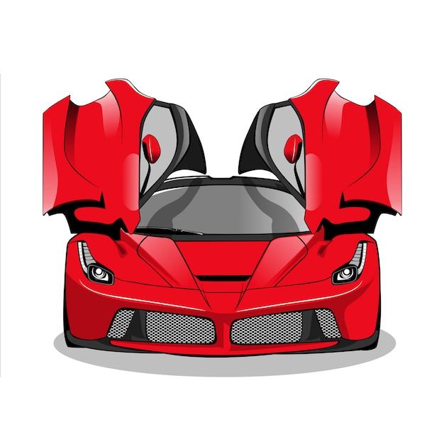 Rode raceauto Premium Vector