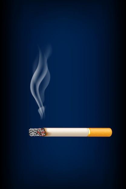 Roken van sigaretten Premium Vector