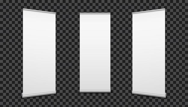 Rol banners papier canvas textuur achtergrond op. Premium Vector
