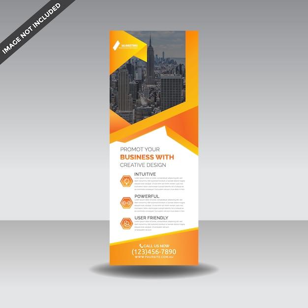 Rollup x-banner premium-sjabloon Premium Vector