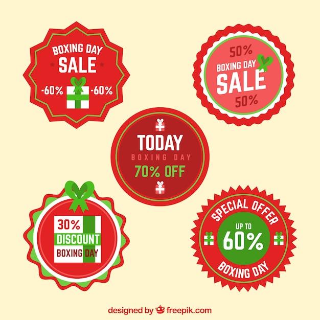 Ronde boksdag verkoop badge Gratis Vector