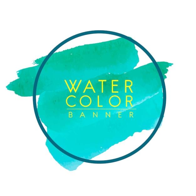 Ronde groene aquarel banner vector Gratis Vector