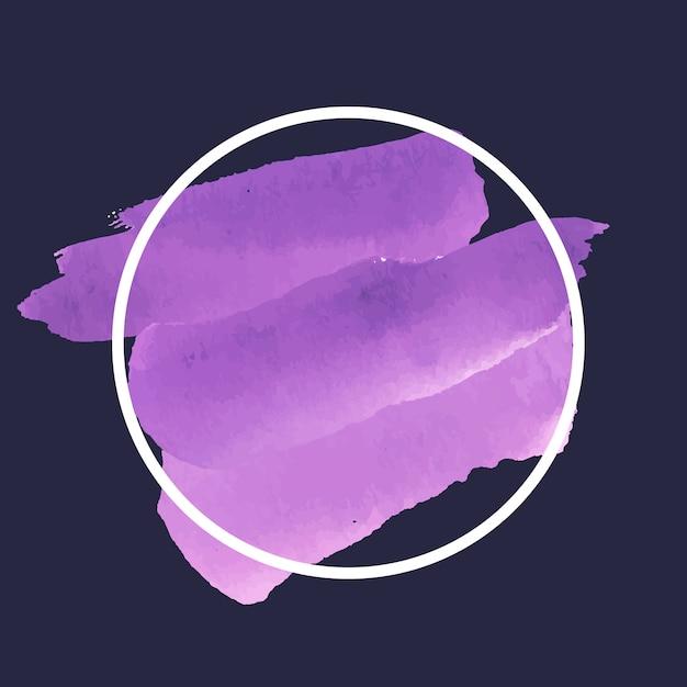 Ronde paarse aquarel banner vector Gratis Vector