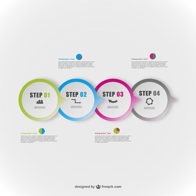 Ronde vector abstracte infografie elementen Gratis Vector