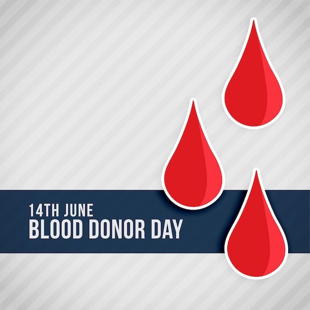 Rood bloed laat wereldbloeddonordag vallen Gratis Vector
