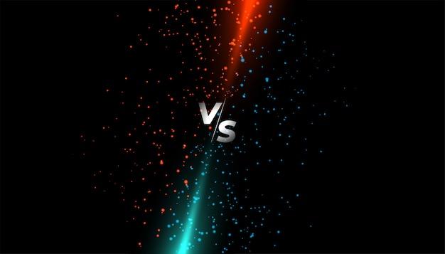 Rood en blauw licht schitteren versus scherm Gratis Vector