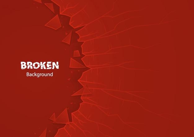 Rood gebroken glas Premium Vector