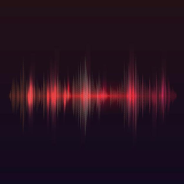 Rood geluidsgolf equalizer vector ontwerp Gratis Vector