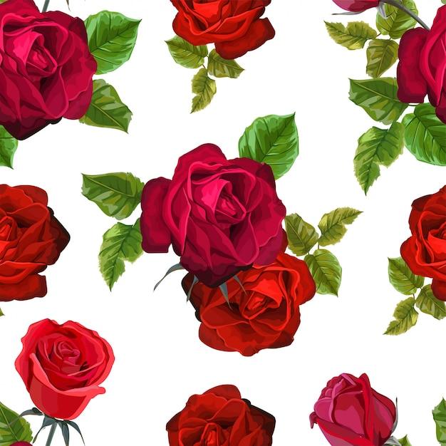 Rood nam bloem voor groetkaarten en uitnodigingen van het huwelijk toe Premium Vector