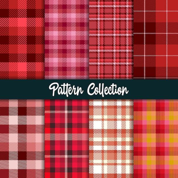 Rood patroon en naadloze collectie. Premium Vector