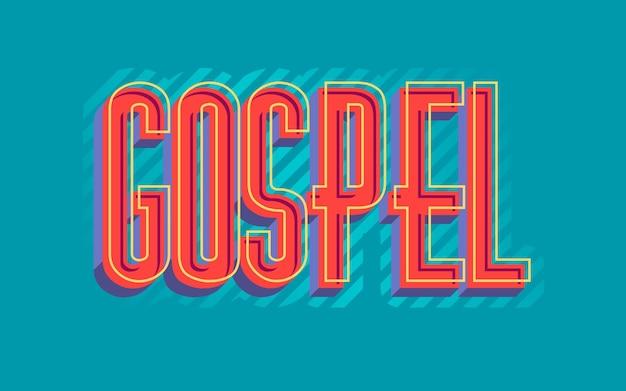 Rood religieus evangeliewoord Gratis Vector